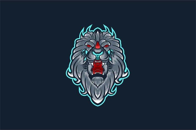 Lion head vector illustration templates
