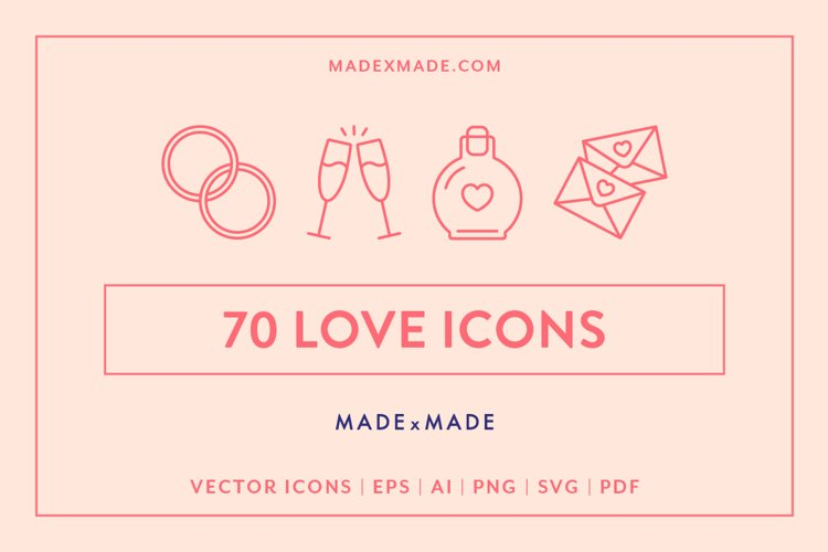 Line Icons - Love example image 1