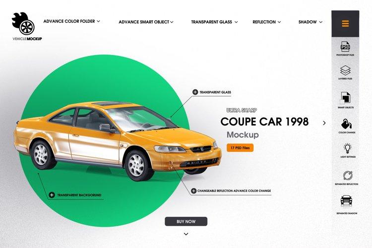 Coupe car 1998 mockup