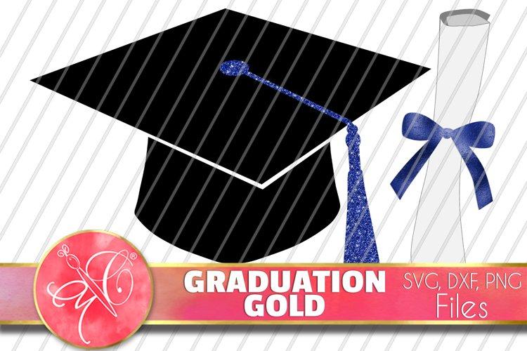 Blue Graduation Bundle Files / PNG, DXF, SVG / 14 Files example image 1