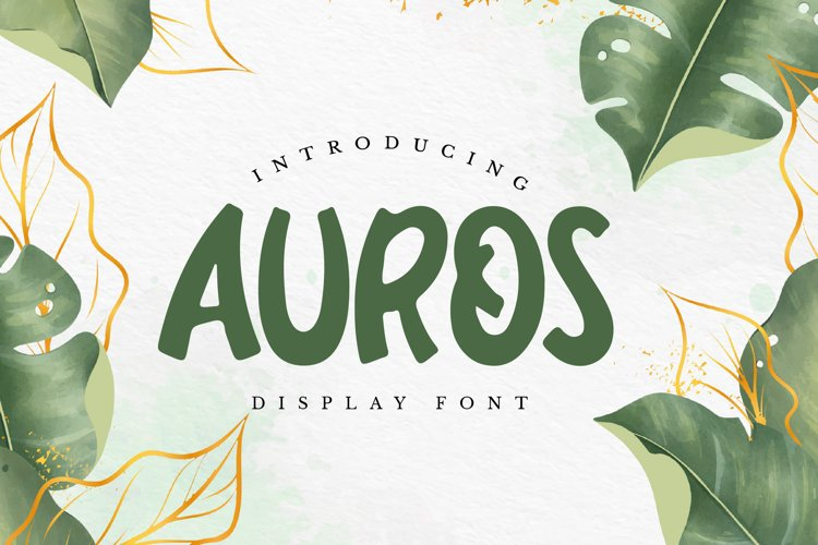 Auros - Display Font example image 1
