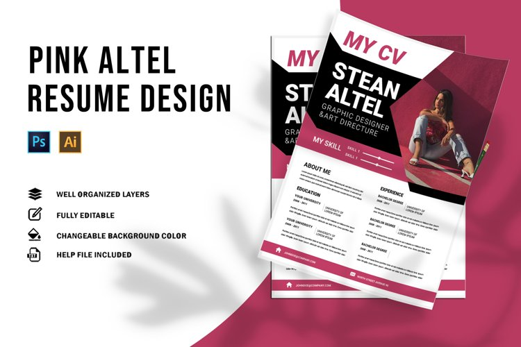 Pink | CV & Resume example image 1