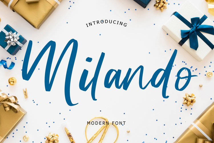 Milando Modern script example image 1