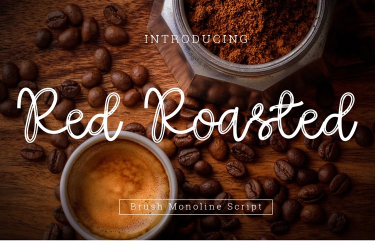 Red Roasted Brush Font Script example image 1