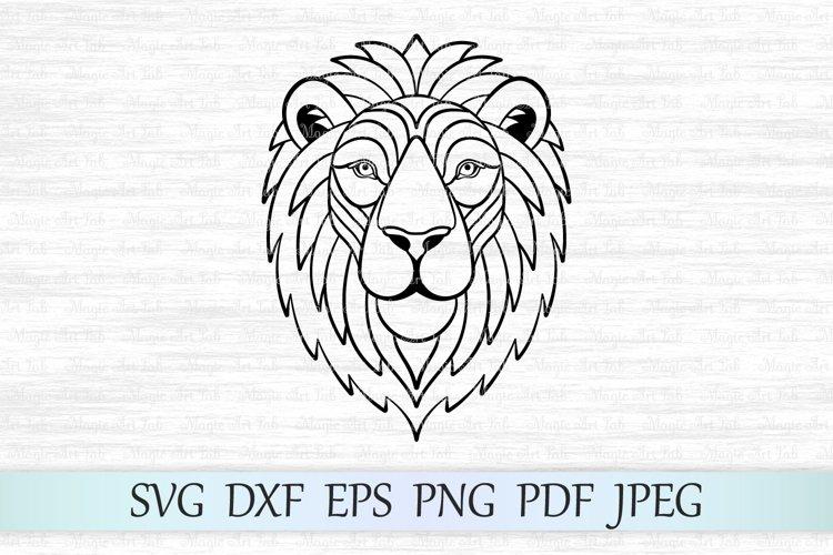 Lion svg, Lion face svg, Lion silhouette, Zentangle lion