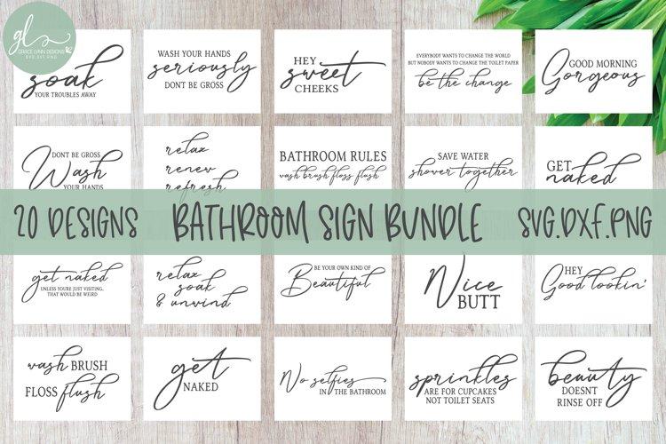 Best Seller Bathroom Sign SVG Bundle - 20 Bathroom Quotes