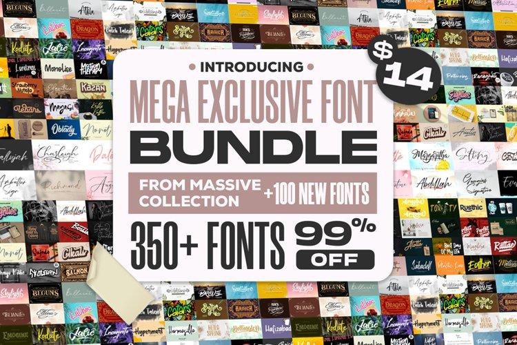 Mega Exclusive Font Bundle - 350 Font