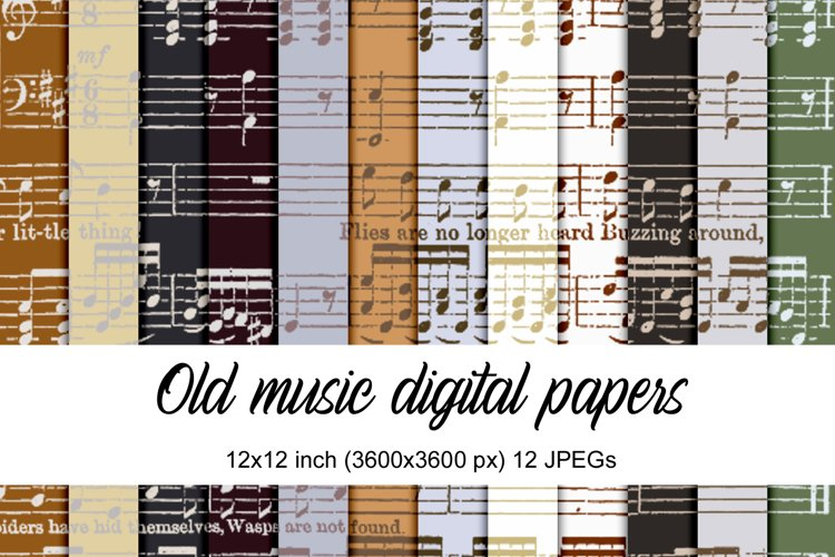 Old music digital papers example image 1