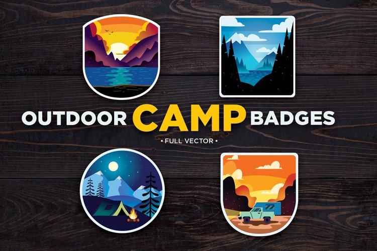 Outdoor Camping Badges, Logos