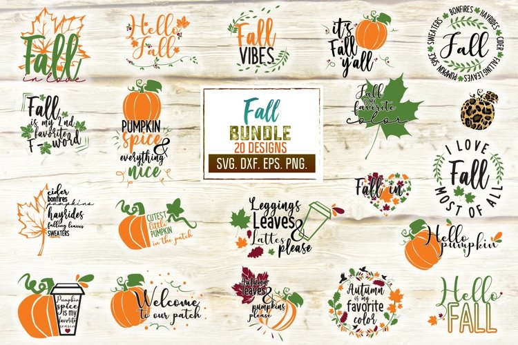 Fall Svg Bundle. Autumn Svg Designs. Fall Svg. example image 1