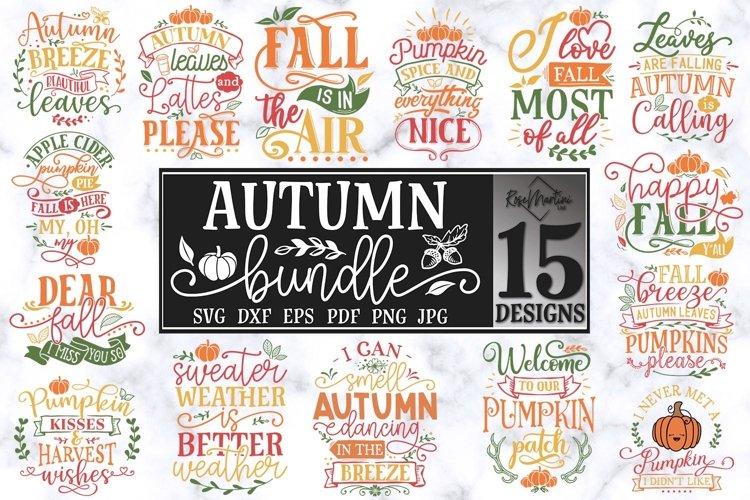 Autumn Bundle Of 15 Designs SVG PNG Fall SVG Autumn SVG