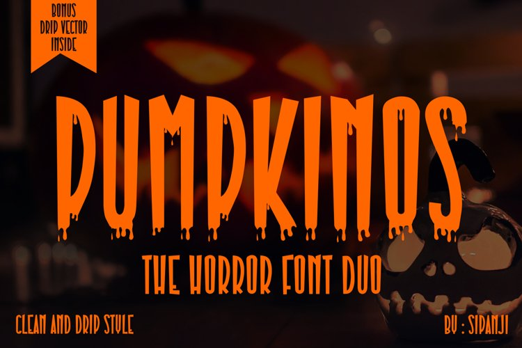 Pumpkinos Horror Font example image 1