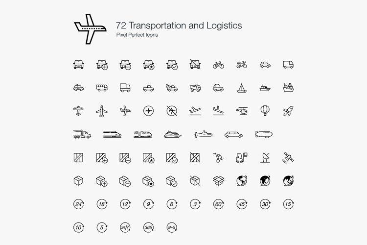 Transport Transportation Vehicles Logistics Perfect Icons