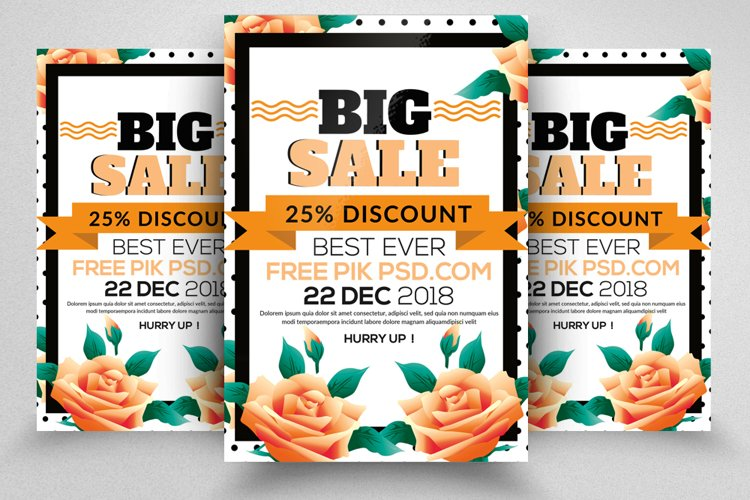 Big Sale Offer Promotion Flyer example image 1