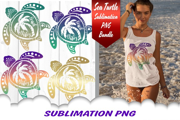 sea turtle beach vibes Sublimation transfer sublimation ready to press