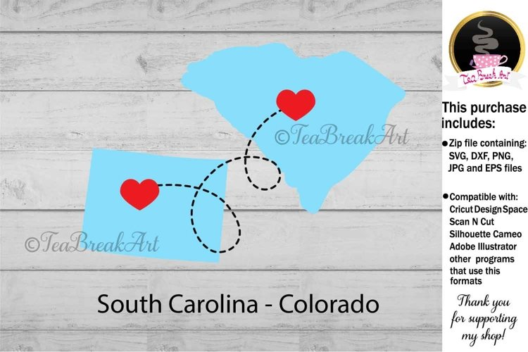 Colorado South Carolina Long distance Cutting File 1143