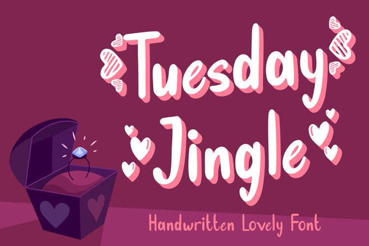 Tuesday Jingle - Lovely Font example image 1
