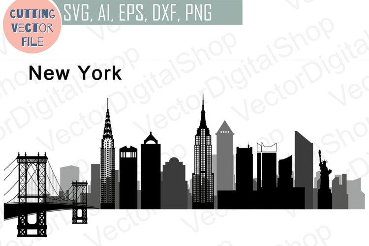 New York Vector, Skyline USA city, SVG, JPG, PNG, DWG, CDR, EPS, AI