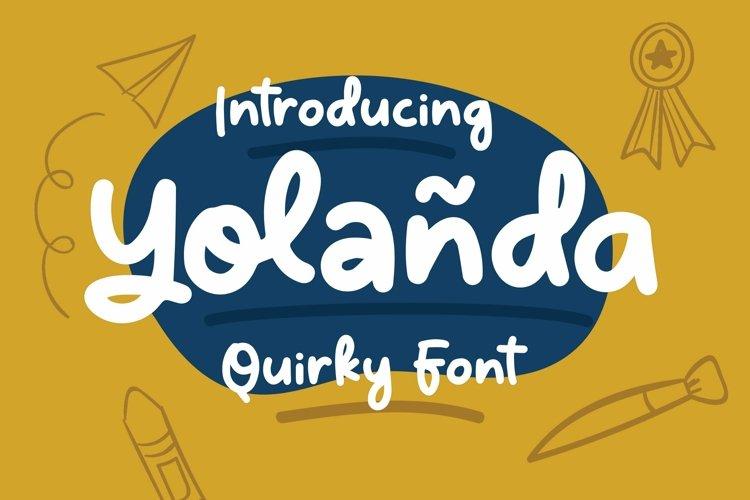 Web Font Yolanda - Quirky Font example image 1
