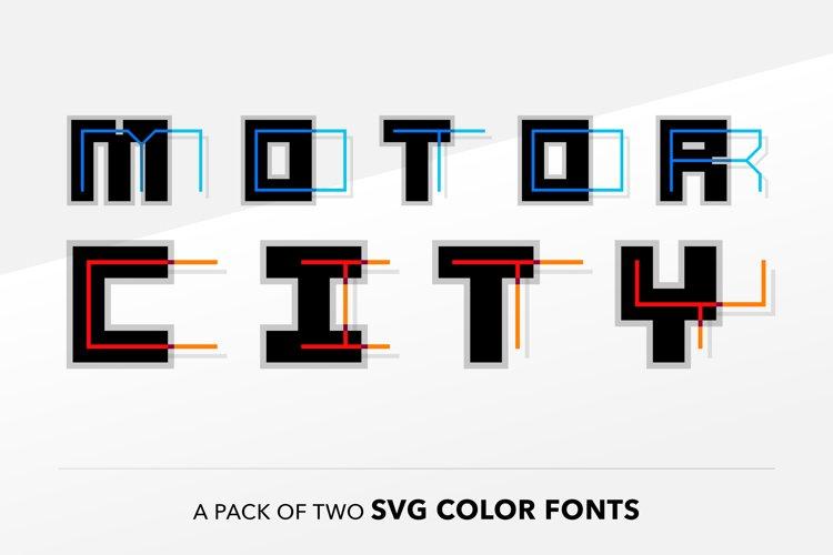 SB Motor - SVG Color Font example image 1