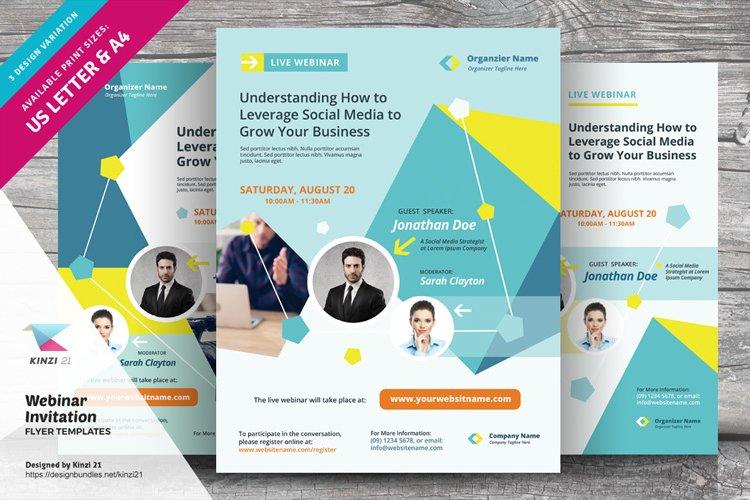 Webinar Invitation Flyer Templates