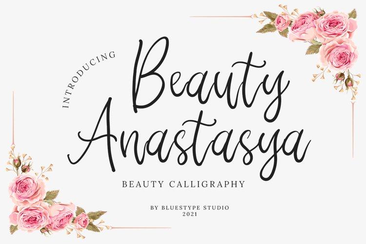 Beauty Anastasya - Handwritten Calligraphy example image 1