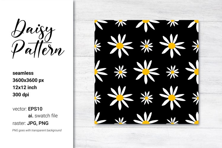 Daisy Patterns. Black and white patterns. Ditsy floral.