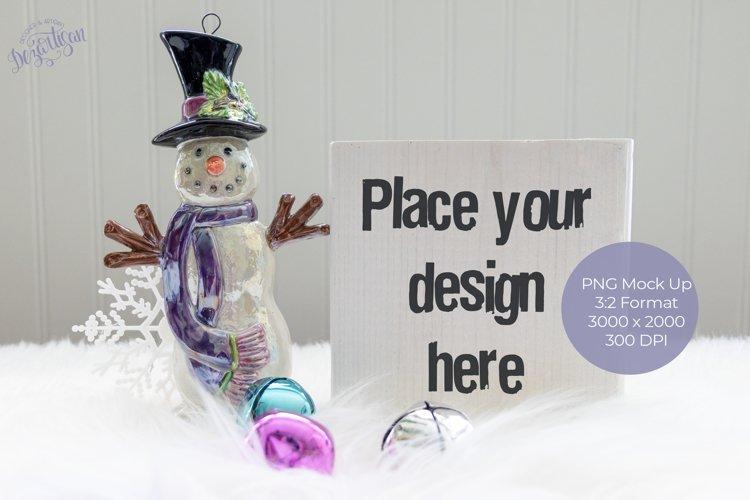 Christmas White Wood shelf sitter Mock Up example image 1