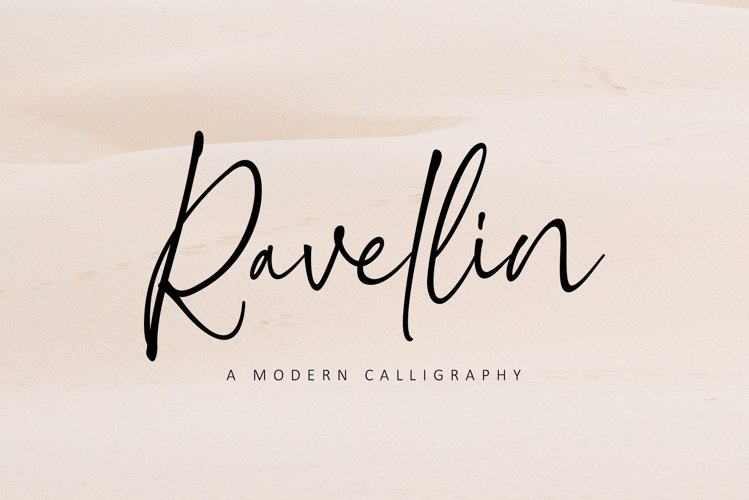Ravellin - A Modern Calligraphy example image 1