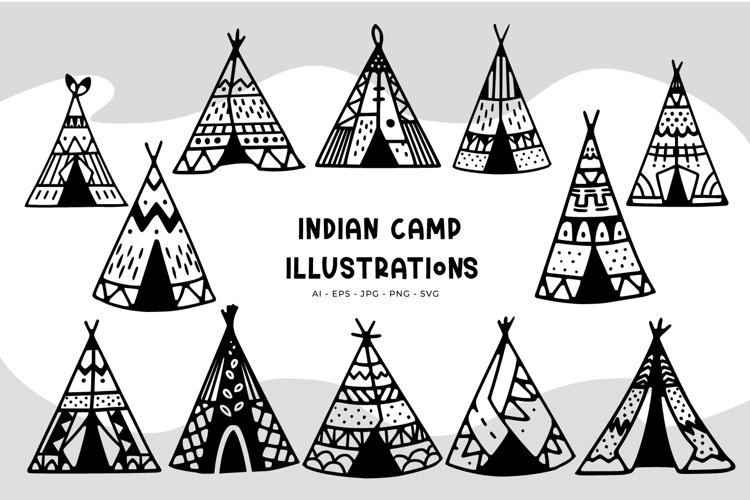 Indian Camp illustrations example image 1