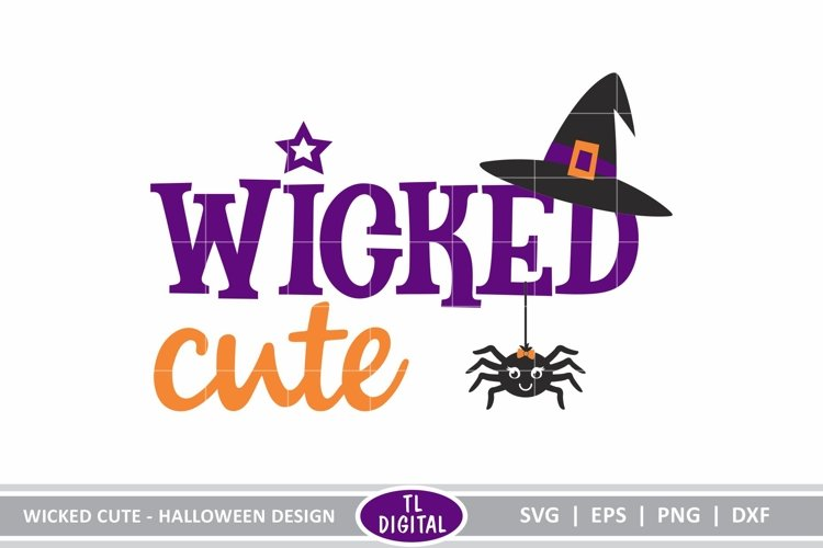 Wicked Cute - Halloween Design - SVG|EPS|PNG|DXF example image 1
