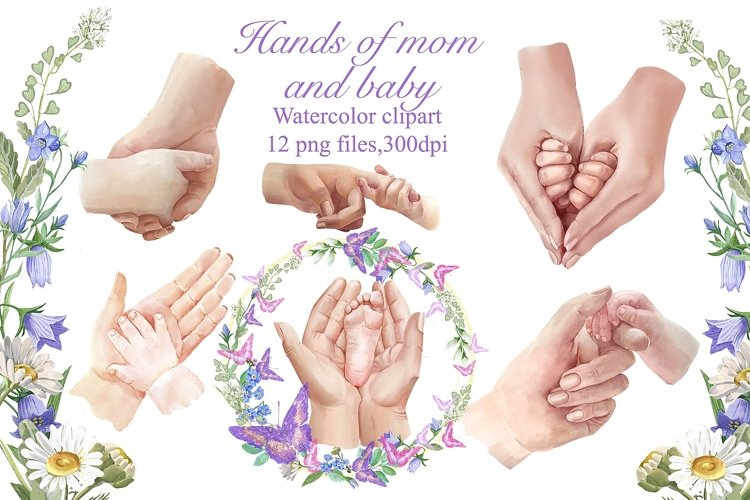 Hands of mom and baby, Family hands