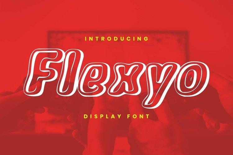 Web Font Flexyo Font example image 1