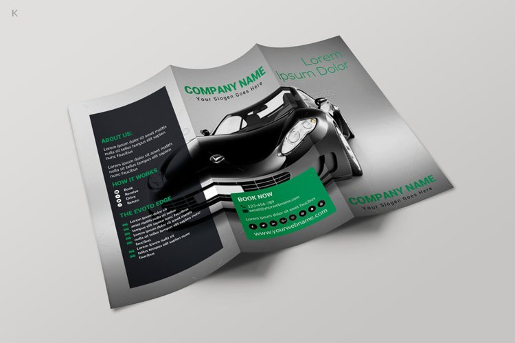 Car Rental TriFold Template example image 1