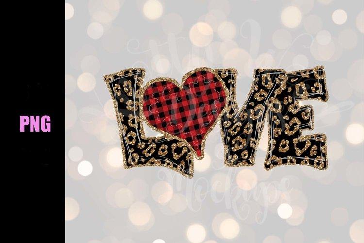 Valentine SVG - Leopard Love - Downloadable PNG example image 1