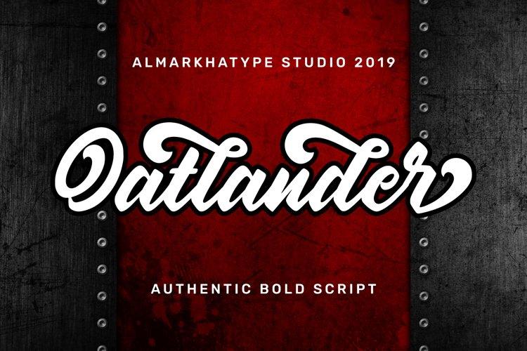 Oatlander - Authentic Bold Script example image 1