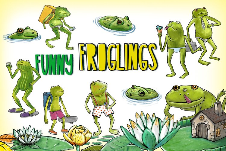 Funny Froglings example image 1