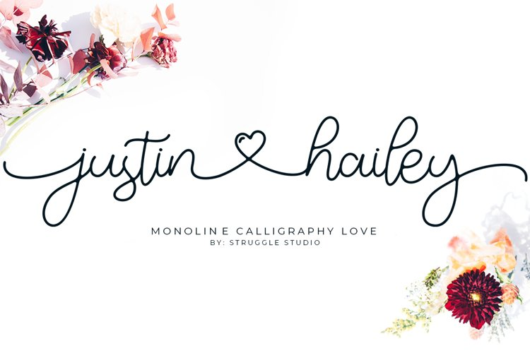 Justin Hailey - Monoline Calligraphy Love example image 1