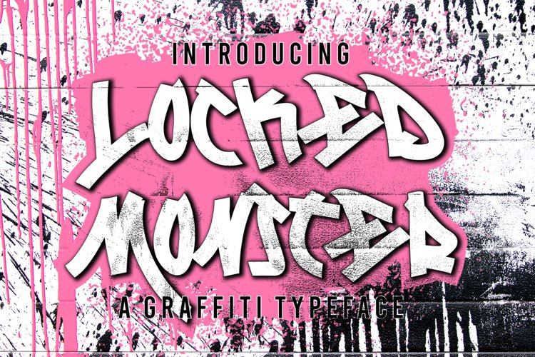 Locked Monster Graffiti example image 1