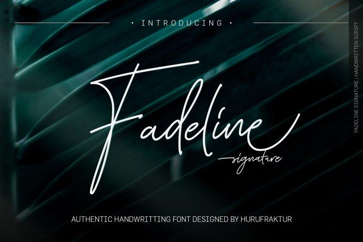 Fadeline Signature example image 1