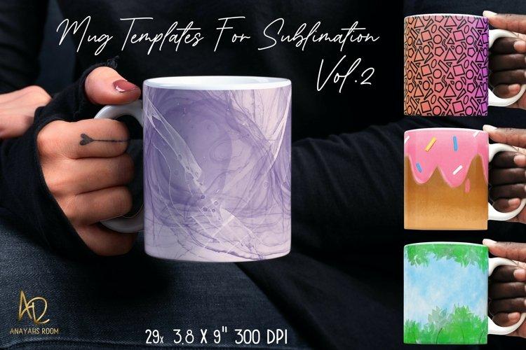 Mug Template Backgrounds for Sublimation PNG Bundle Vol.2