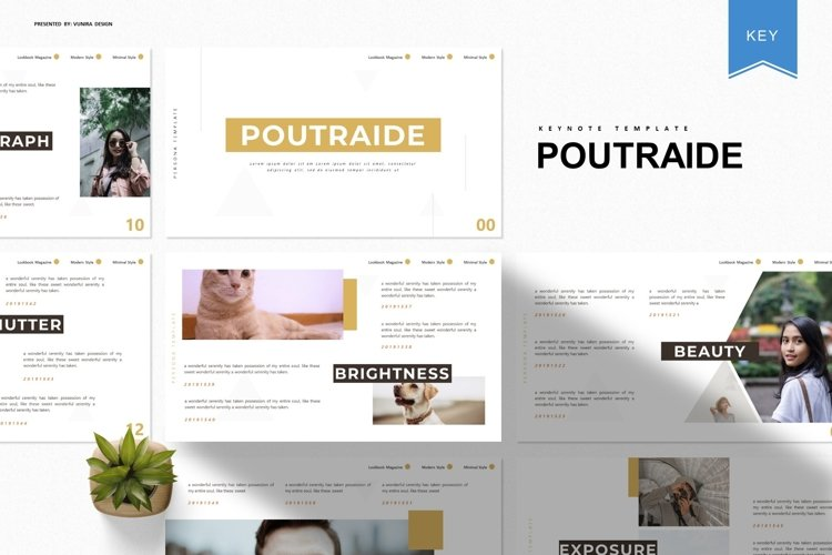 Poutraide | Powerpoint, Keynote, GoogleSlides Template example image 1