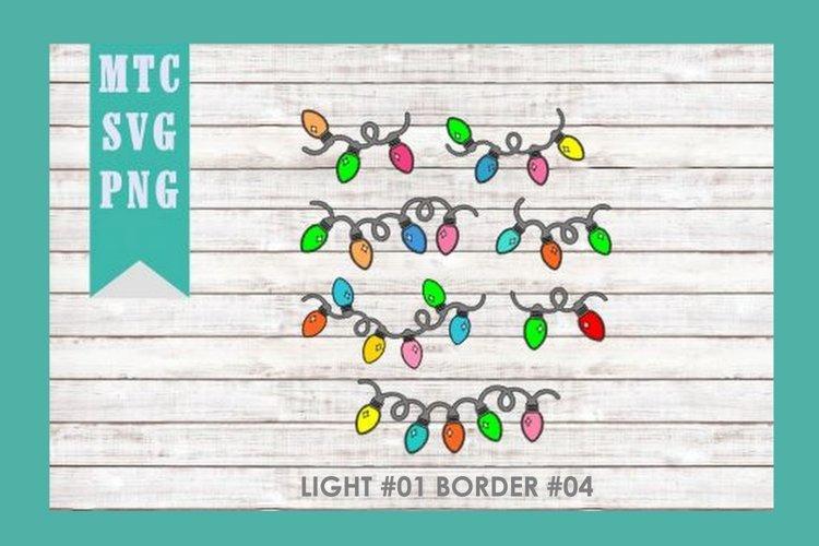 Christmas Light #01 BORDER #04 SVG Cut File Bundle