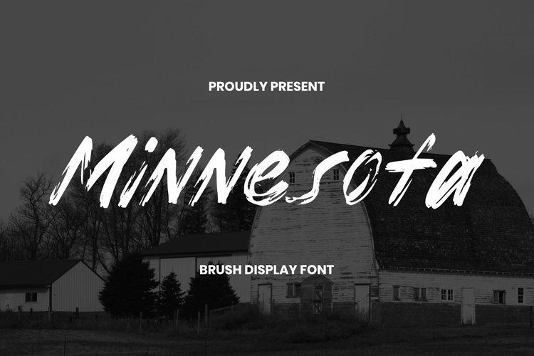 Web Font Minnesota Font example image 1