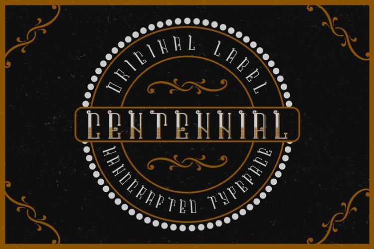 Centennial typeface example image 1