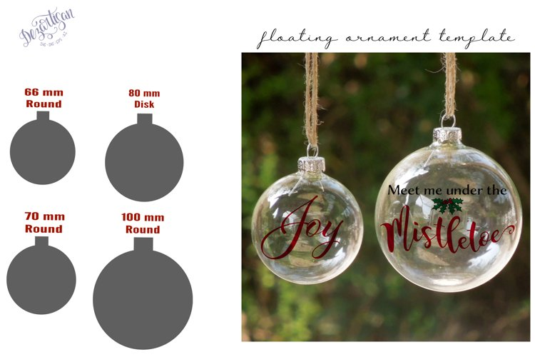 Floating Ornament Template inserts SVG DXF and PSD format example image 1