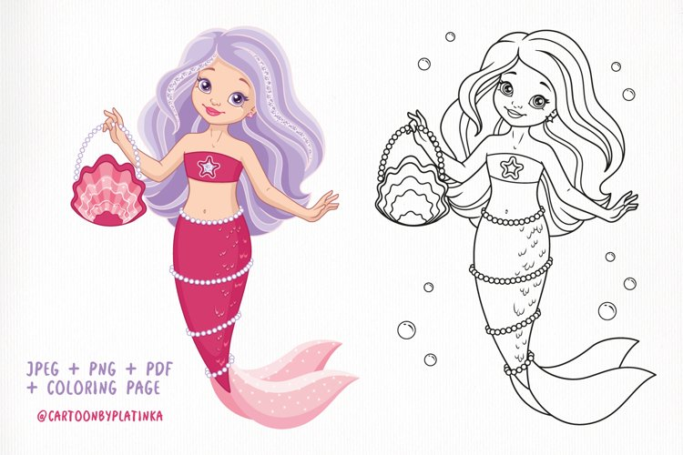 Mermaid with bag