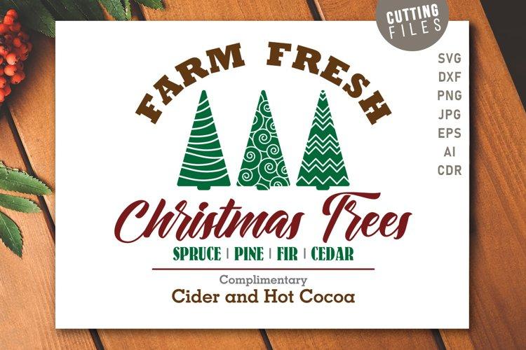 Farm Fresh Christmas Trees - Sign example image 1
