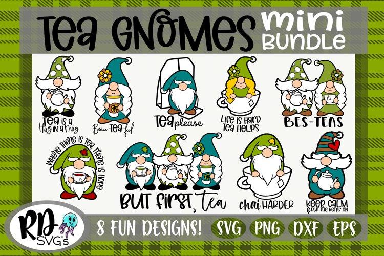 Tea Gnome Bundle - A set of Layered GNOME Cricut Cut File