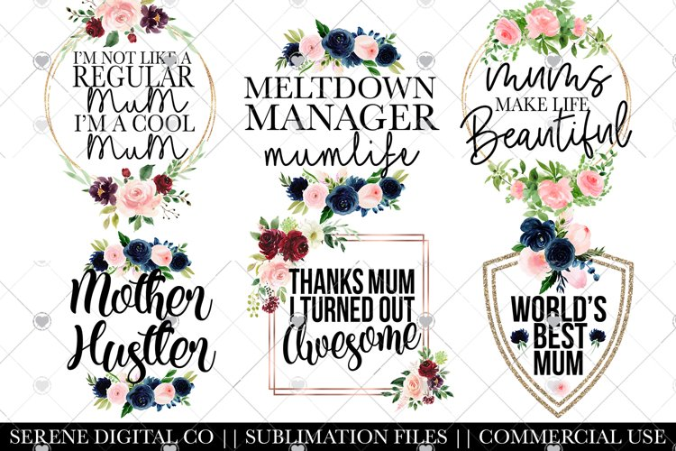 Download Mum Life Funny Mum Quotes Png Files 1141807 Sublimation Design Bundles